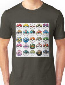 Pokemon Pokeball White Unisex T-Shirt