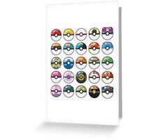 Pokemon Pokeball White Greeting Card