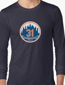 Mike Piazza #31 - New York Mets Long Sleeve T-Shirt