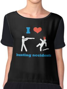 I Heart Hunting Accidents Chiffon Top