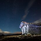 The cabin lit by the stars by mariusnn