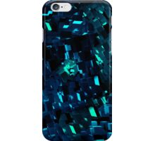 Blue and Teal Abstract Blocks iPhone Case/Skin