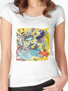 flying underwater Women's Fitted Scoop T-Shirt