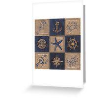 Burlap Shellfish Collage Greeting Card