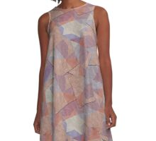 Star in purples, mauve, tan texture A-Line Dress