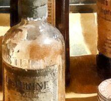 Medicine Bottles in Glass Case Sticker
