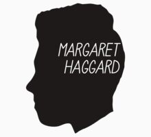 Margaret Haggard Logo - Black Kids Tee