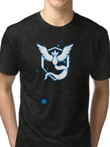 Team Mystic pokemon go Logo space stars Tri-blend T-Shirt
