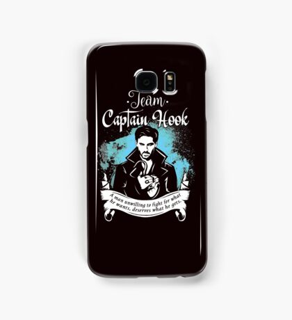 Team Captain Hook. Captain Hook OUAT Quote. Samsung Galaxy Case/Skin