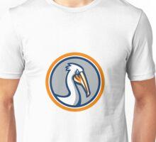 Pelican Head Circle Retro Unisex T-Shirt