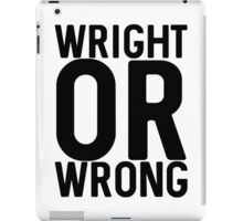 Wright iPad Case/Skin