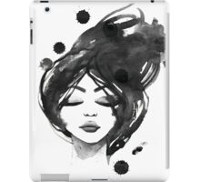 Woman in black and white iPad Case/Skin