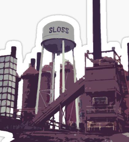 Sloss Furnace Birmingham Alabama Magic City Sticker