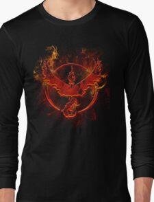 Team Valor pokemon go flames red Long Sleeve T-Shirt