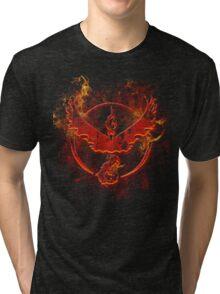 Team Valor pokemon go flames red Tri-blend T-Shirt