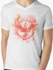Team Valor pokemon go flames red Mens V-Neck T-Shirt