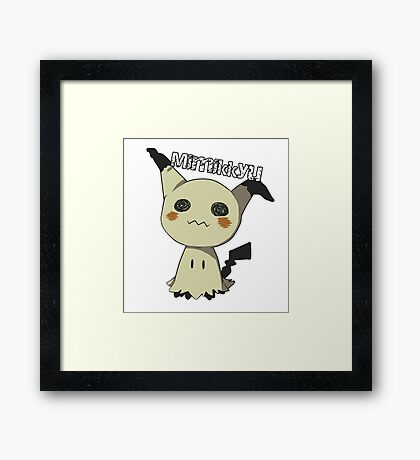 Pokemon Sun Moon Mimikkyu Framed Print