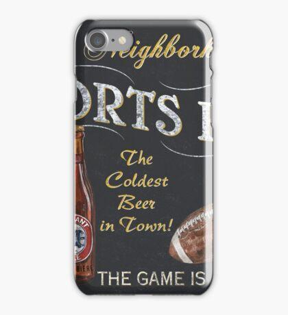 Chalkboard Sports Bar Sign iPhone Case/Skin