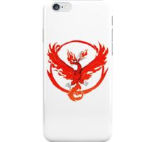 Team Valor pokemon go red flames fire iPhone Case/Skin