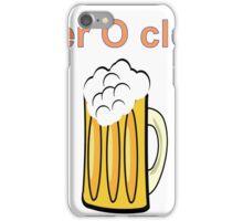 beer clock iPhone Case/Skin
