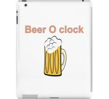 beer clock iPad Case/Skin