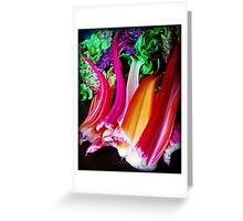 Rainbow Chard Greeting Card