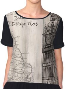 Vintage Travel Poster London Chiffon Top