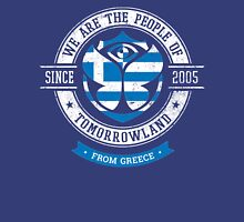 People of Tomorrowland Flags logo Badge - Greece - Greek - Grèce - Griekenland Unisex T-Shirt