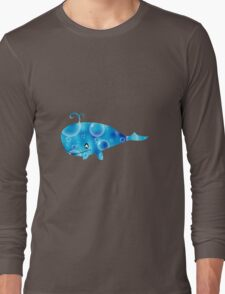 whale and bubbles Long Sleeve T-Shirt