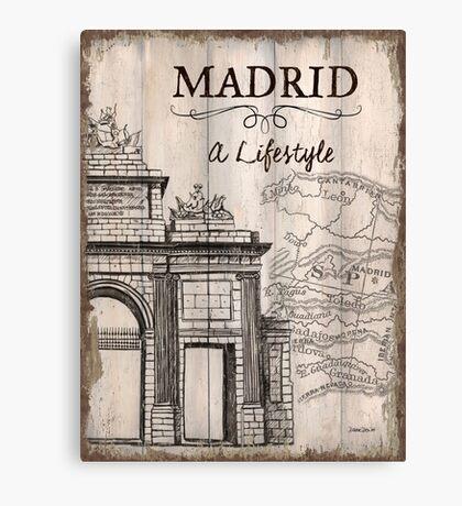 Vintage Travel Poster Madrid Canvas Print