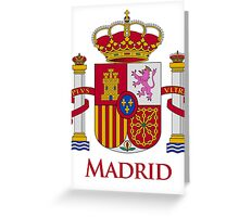 Madrid Shield of Spain Greeting Card