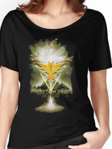 Team Instinct Yellow pokemon go Women's Relaxed Fit T-Shirt