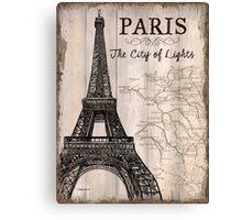 Vintage Travel Poster Paris Canvas Print