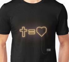 cross equals love Unisex T-Shirt