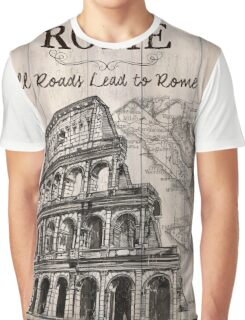 Vintage Travel Poster Rome Graphic T-Shirt