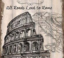 Vintage Travel Poster Rome by Debbie DeWitt