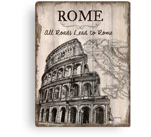 Vintage Travel Poster Rome Canvas Print