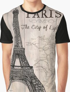 Vintage Travel Poster Paris Graphic T-Shirt