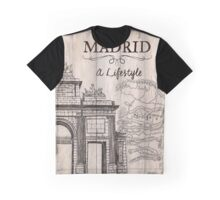 Vintage Travel Poster Madrid Graphic T-Shirt