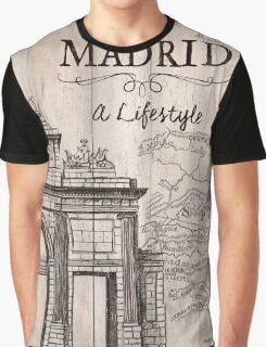 Vintage Travel Poster Madrid Graphic T-Shirt