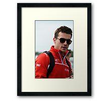 Jules Bianchi Framed Print