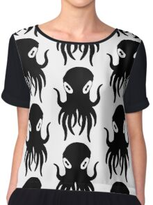 Black Octopus Chiffon Top
