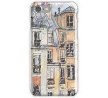 Paris terrace view iPhone Case/Skin