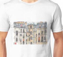 Paris terrace view Unisex T-Shirt