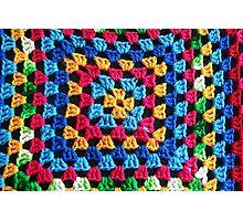 Granny Crochet Throw Photographic Print