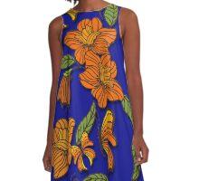 Butterflies and Flowers Art A-Line Dress
