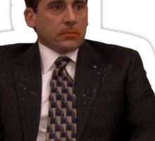 Michael Scott Cheesy Poofs Sticker