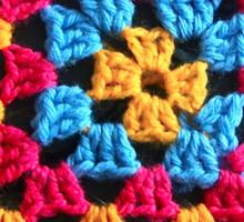 Granny Crochet Throw Sticker