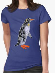 Cool Funky Emperor Penguin Art Womens Fitted T-Shirt