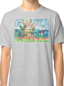 Red Boat Blue Sea Classic T-Shirt